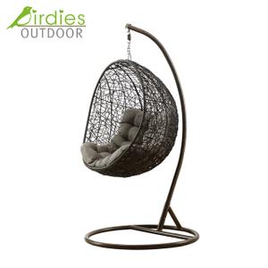 Birdies Factory Egg Frame Balcony Garden Outdoor Wicker Chair Swing