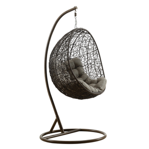Outdoor Double Cane Hanging Chair with Stand