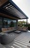 Outdoor Metal Motorized Electric Retractable Free Standing Wind Resistant Waterproof Aluminum Garden Awning
