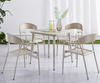 Bistro Dining Outdoor Garden Restaurant Patio Fast Food Metal Aluminum Stackable Chairs Table Sets Furniture