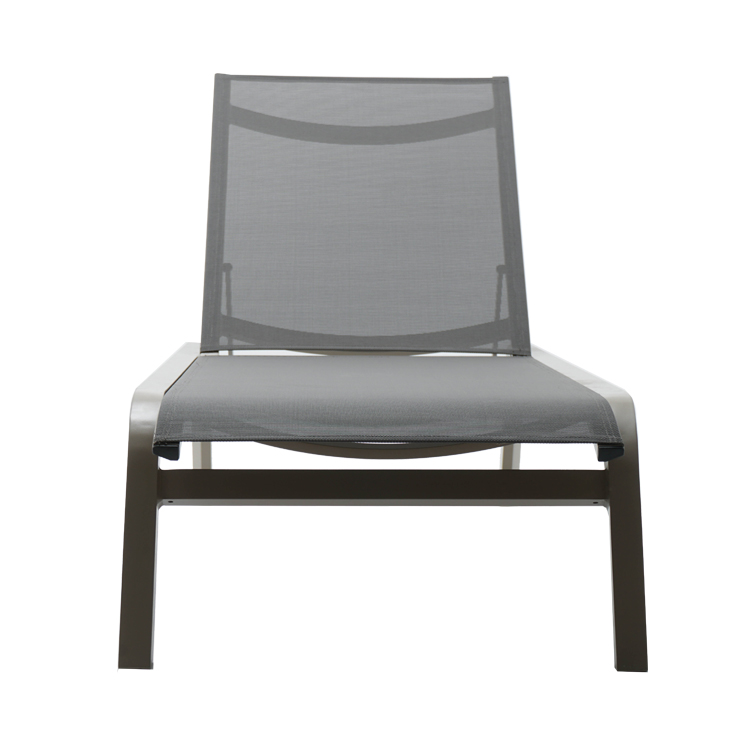 Outdoor garden Sunshine beach Hotel swimming pool Aluminum Chaise Lounger chair with Mesh Seat