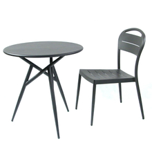 Outdoor Round Backyard Garden Aluminium Table And 2 Chairs