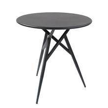 Restaurant Metal Steel Black Round Outdoor Coffee Table