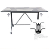 Wholesale Metal Garden Set Dining Tops Tables Patio Ceramic Table