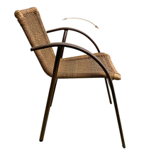 Wicker Chairs Round Garden Cane Outdoor High Back Rattan Chair