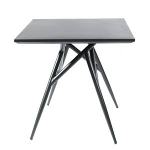 Square Aluminum Backyard Black Metal Patio Table