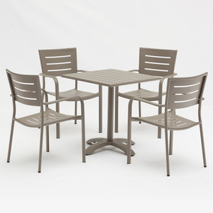 Outdoor Garden Metal Aluminium Patio Table And Chairs Furniture