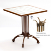 Industrial Iron Square Metal Dining Table Wood Furniture Legs