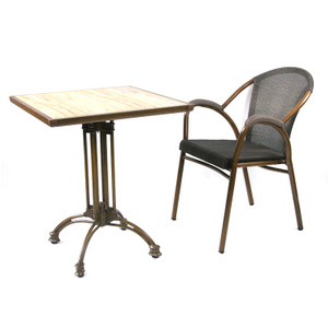 Bar French Bistro Square Dining Table And Chair Set