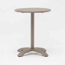 Bistro Small Round Aluminum Metal Patio Dining Table