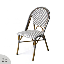 Bistro Outdoor Balcony French Rattan Aluminum Wicker Chair