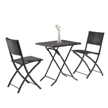 Bistro Garden Patio Folding Table And Chairs Set