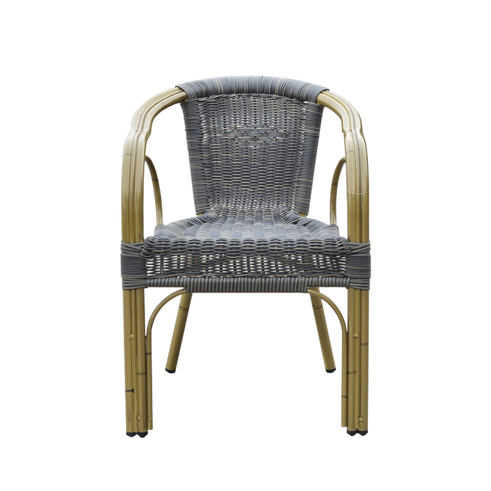 Modern Outdoor Black Rattan Dining Chairs For Sale