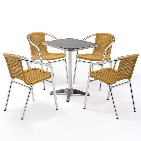 Collocation skills of outdoor rattan table and chairs