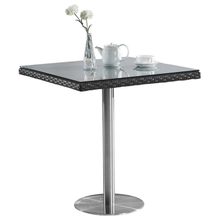 Aluminum Metal Plastic Wicker Outdoor Small Dining Table