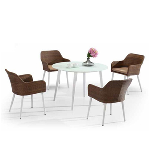 Pedestal Round Glass Circle Dining Room Table Set For Restaurant