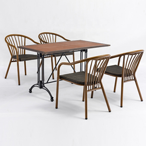 Bistro Cafe Dining Table And Chairs With Arms Manufacturer