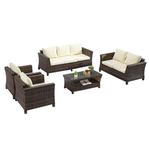 Outdoor Patio 2 Seater Rattan Wicker Sofa Set