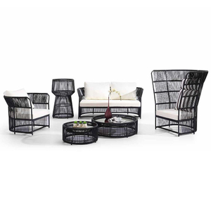 Outdoor Garden Rattan Corner Sofa Bed Furniture Set Sale