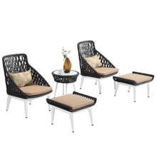 Restaurant Outdoor Garden Rattan Lounge Sofa Set